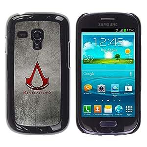 EJOY---Cubierta de la caja de protección la piel dura para el / Samsung Galaxy S3 MINI 8190 / --Revelaciones