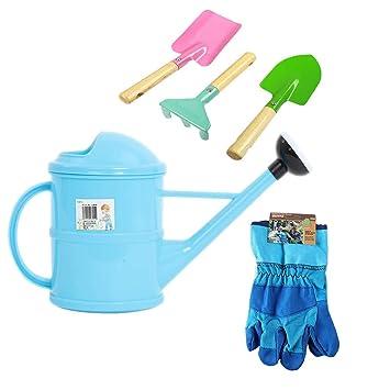 Kids Gardening Tools Set Including Spade, Leaf Rake, Shovel