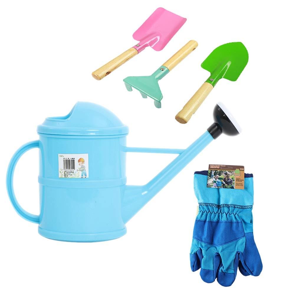 Mingteng Kids Gardening Tools Set Including Spade, Leaf Rake, Shovel, Garden Tools Toys, Outdoor Toys
