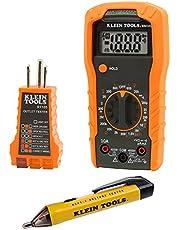 Klein Tools 69149 Kit de prueba de multímetro Klein, probador de voltaje sin contacto y toma de corriente, cables y baterías incluidas