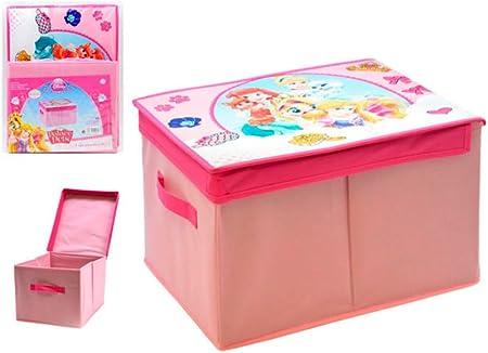 ARTE REGAL Princesas Disney Caja almacenaje, Rosa, 40x30x25 Cm ...