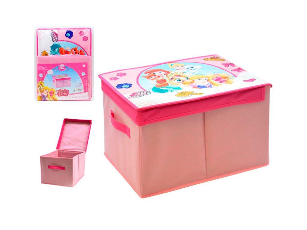Caja guardatodo 40x30x25 dec princesas