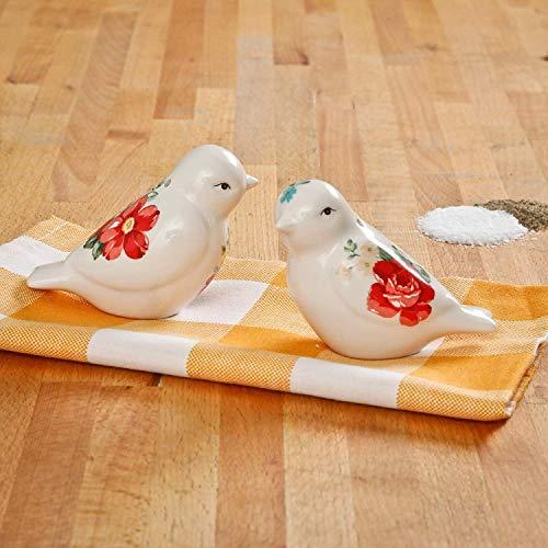 Pioneer Woman Novelty Birds Ceramic Salt & Pepper Shaker Set