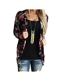 Fashion Womens Floral Long Sleeve Casual Blazer Jacker Coat