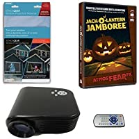 Virtual Reality Halloween Projector Value Kit with Jack O Lantern Jamboree AtmosFEARFx DVD and Screen