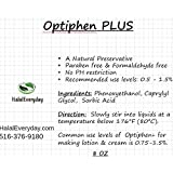 Optiphen Plus - Optiphen + All Natural Preservative 8 Oz - Our formula of Optiphen with Sorbic Acid to prevent mold and bacteria