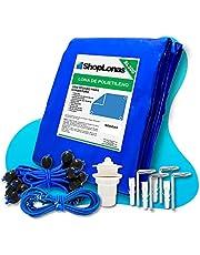 Capa para Piscina 10 em 1 Proteção Azul 300 Micras 6,5x3,5