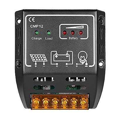 Anself Solar Charge Controller Solar Panel Battery Regulator Safe Protection 12V/24V