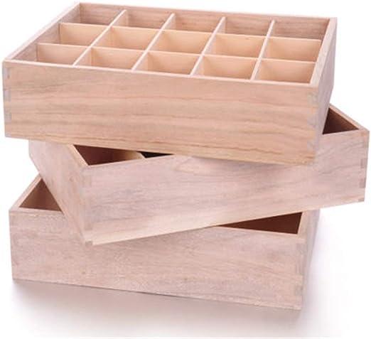 Organizadores de cajones Caja de almacenamiento de madera Armario ...