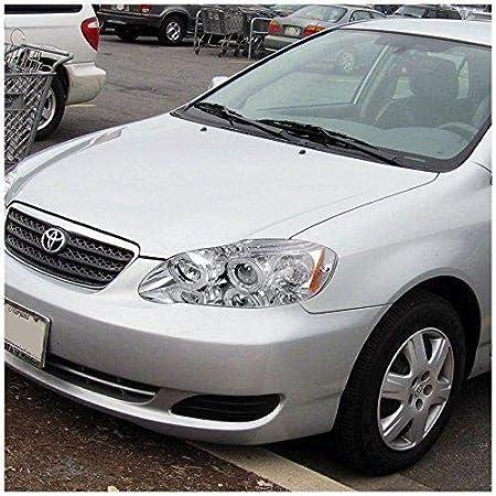 Amazon.com: Toyota Corolla 2003 2004 2005 2006 2007 LED Halo Projector Headlights - Chrome: Automotive