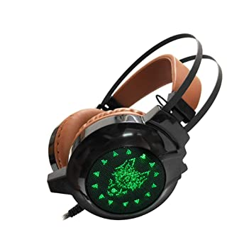 Unbekannt PS4-Gaming-Headset-Headset/Ultraleichtes Surround-Sound-Gaming-Headset/LED-Cooles Licht, Kaffee-Grün-Musik-Entertai