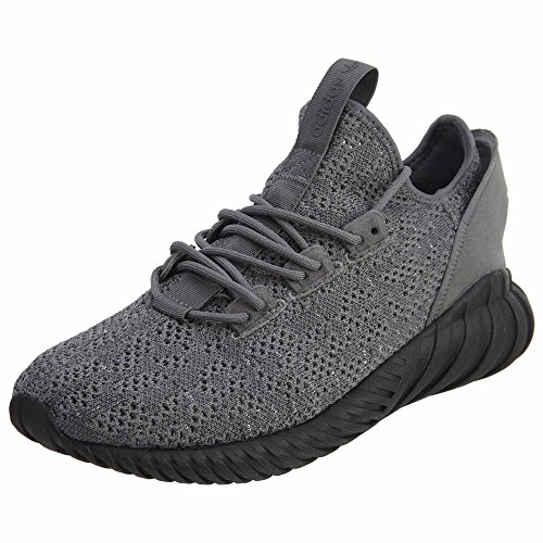 adidas Tubular Doom Sock Primeknit, Sneaker a Collo Alto Uomo Grey/Core Black-running White