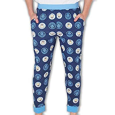 Manchester City FC Official Soccer Gift Mens Lounge Pants Pajama Bottoms