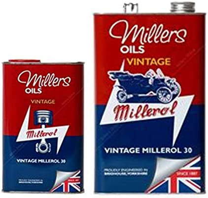 Millers Vintage Millerol 30 - Aceite de Motor sin detergente, 6 ...