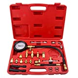 Bang4buck 20 Pcs 0-140 PSI Universal Fuel Injector Pressure Test Kit for Trucks, Cars, ATVs