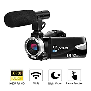 Digital Camera with WiFi 24.0 MP Vlogging Camera 2.7K Ultra HD 3.0 Inch Camera with Flip Screen Retractable Flashlight …