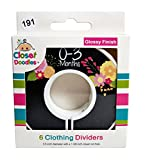 Closet Doodles C191 Chalkboard Girl Baby Clothing Dividers Set of 6 Fits 1.25inch Rod