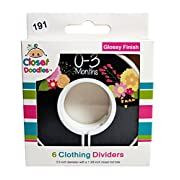 Closet Doodles C191 Flowers Girl Baby Clothing Dividers Set of 6 Fits 1.25inch Rod