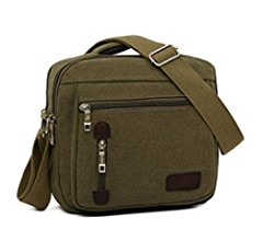 4a3d00cda860 Amazon.com: Zeroral Men Bag Vintage Business Messenger Bags Canvas ...