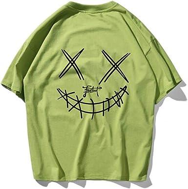 Pareja Verano Vestido Hip-Hop Manga Corta Camiseta AlgodóN Cuello Redondo Media Manga Suelta: Amazon.es: Ropa y accesorios