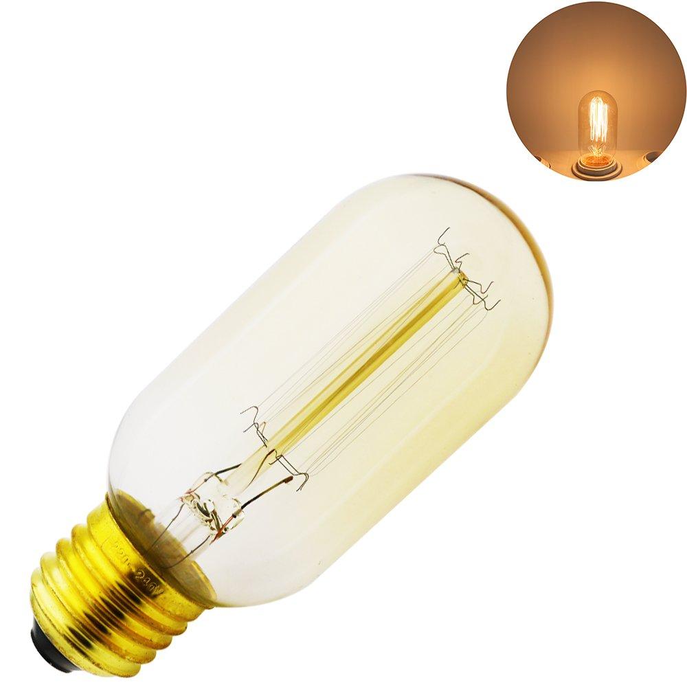 Warmwei/ß E27 Retro Gl/ühbirne Antike Beleuchtung,Ideal f/ür Nostalgie und Antike Beleuchtung Xindaxin/®,Edison Vintage Gl/ühlampen 1 St/ück