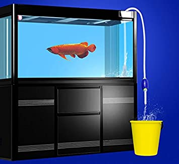 BPS® Limpiafondos Acuario Accesorio Sifón Limpieza Pecera Tubo Saca Agua Bomba Manual Cambiador el Agua 2 Dimensiones 170/207cm para Elegir (Blanco 207cm) ...