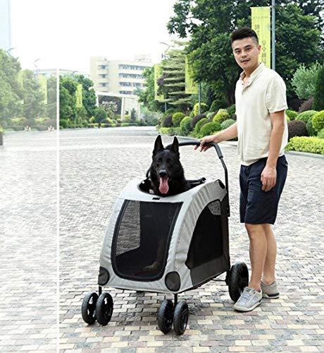 GHGJU Cochecito Grande para Mascotas Perro Gigante Fuera de la ...