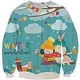 KIDVOVOU Kids Unicorn Gift Hoodie Pullover Unicorn Sweatshirt Girls,5-6years,Winter Festival