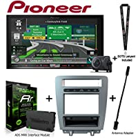 Pioneer AVIC-8201NEX 7 Navigation AV Receiver w/Backup Camera iDatalink KIT-MUS1 integration adapter for select Ford Mustang, ADS-MRR Interface Module and BAA21 Antenna Adapter and a SOTS Lanyard