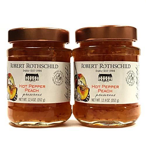 Robert Rothschild Hot Pepper Peach Preserved 12.4 oz | Pack of 2