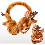 Rhode Island Novelty Christmas Brown Reindeer Rudolf Ear Muffs