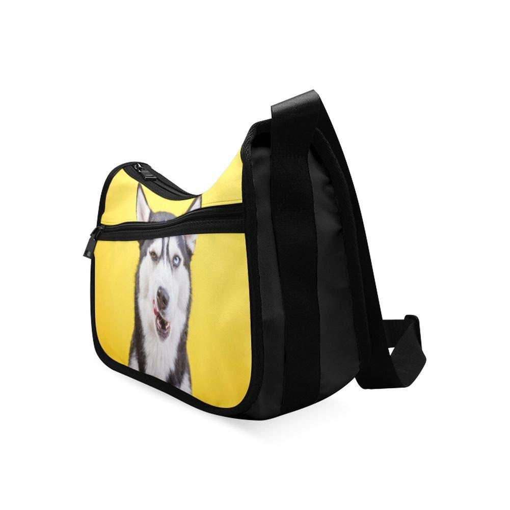 Small Cute Siberian Husky Outdoors Messenger Bag Crossbody Bag Large Durable Shoulder School Or Business Bag Oxford Fabric For Mens Womens