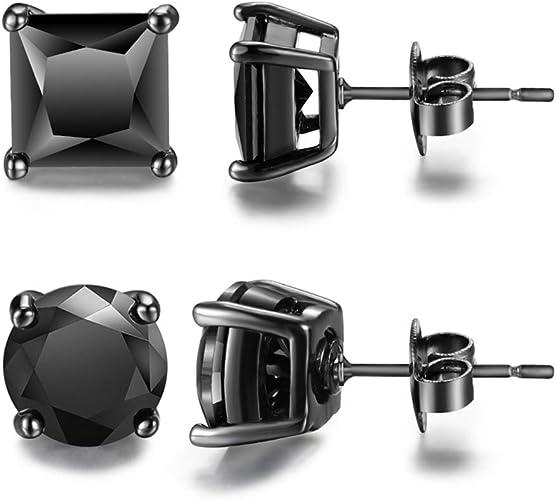 Fashion Mens Earrings Delicate Jewelry  Black Earrings  2 Every Day earrings Black Hoops for men Mens Jewelry Unisex Hoop Earrings