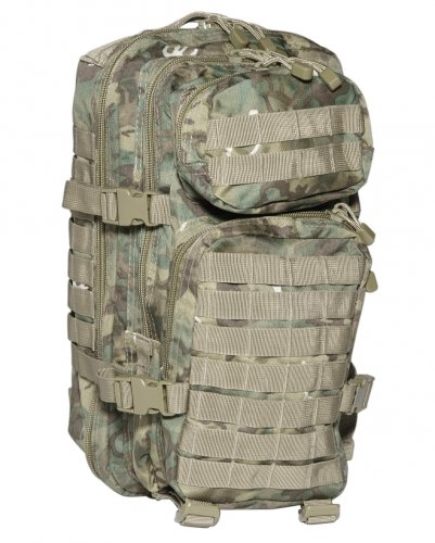 88fe0aab1c7 Mil-Tec Military Army Patrol Molle Assault Pack Tactical Combat Rucksack  Backpack Bag 20L Arid