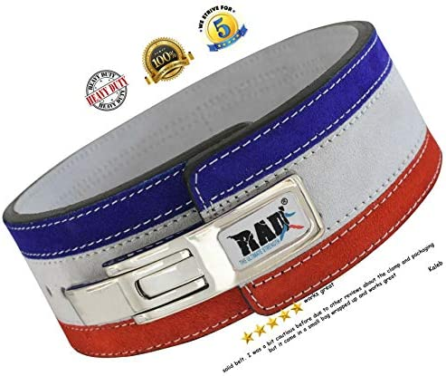 RAD Weight Lifting Belt Powerlifting Men Women, Weightlifting 10 mm Lever Belt