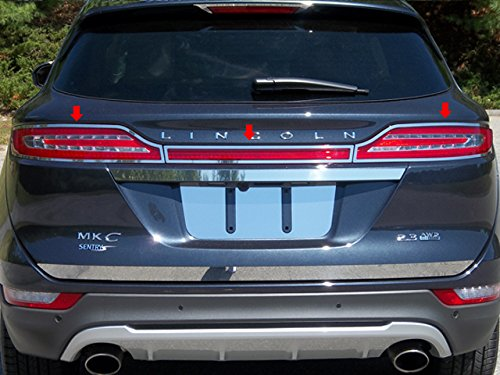 QAA FITS MKC 2015-2019 LINCOLN (3 Pc: Stainless Steel Taillight Ring Accent Trim, 4-door) TR55640