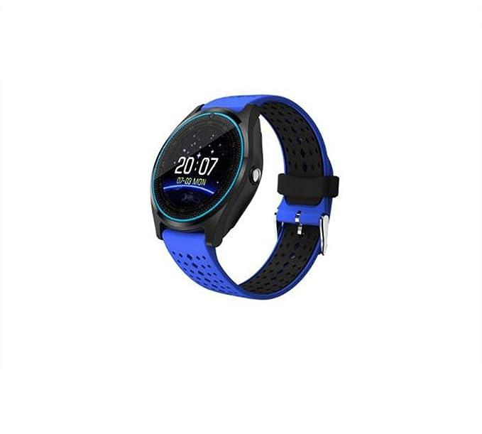 Reloj inteligente Pantalla redonda Monitor de frecuencia cardíaca Podómetro Deportes para adultos al aire libre Reloj