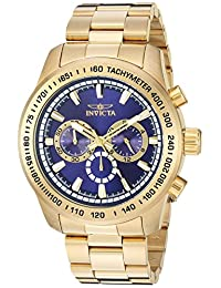 Invicta Men's 'Speedway' Quartz Stainless Steel Casual Watch, Color:Gold-Toned (Model: 21797)