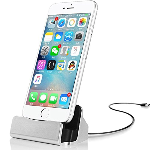 IOS Charger Charging Docking Desktop Stand Station Cradle Sync Dock for iPhone 7 7s 6 6S Plus 5S 5 SE 5C 5se (Desktop Sync Cradle)