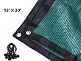 70% Green Sunblock Shade Cloth with Grommets for Plant Cover Greenhouse,Barn,Kennel, Pool, Pergola or Carport