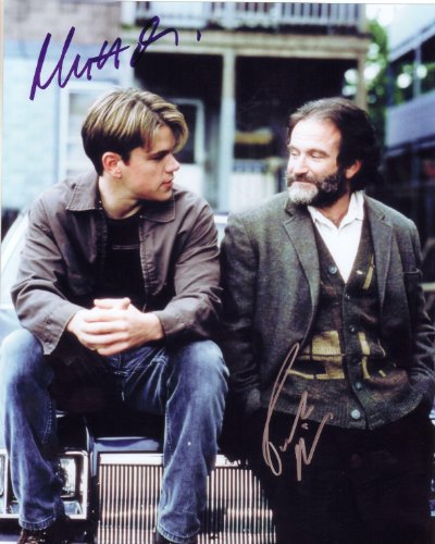 Good Will Hunting with Matt Damon & Robin Williams Signed Autographed 8 X 10 Reprint Photo - Mint Condition (Williams Autograph Robin)