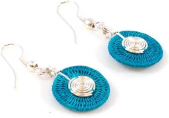 Drop Earrings Light Weight Statement Earrings Art Deco Earrings Spiral Earrings Pink Earrings
