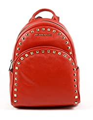 Michael Michael Kors Abbey Red Medium Frame out Stud Backpack