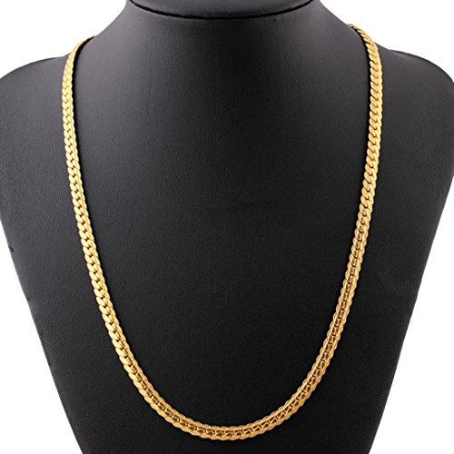 Interwoven Link - Men Women Chain Necklace, Fashion Luxury Filled Curb Cuban Link Gold Jewelry For Valentine's Day Gift By Litetao (C)