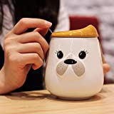 Best Girlfriend Mugs - Lovely Dog Lashes Emoji Emoticon 17 oz Ceramic Review