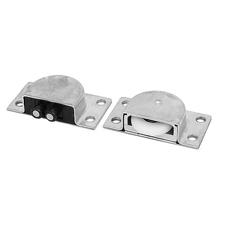 sourcingmap® Armario Gabinete de doble eje para puertas corredizas juego de rodillos 23 mm Diámetro