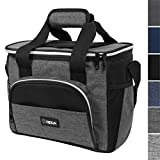 16 can cooler lunch box - OPUX Insulated Soft Collapsible Cooler for Picnic, Beach, Car Trip | Thermal Leakproof Large Lunch Box for Adult, Family | Lunch Bag with Shoulder Strap | Fits 16 Cans (Charcoal)