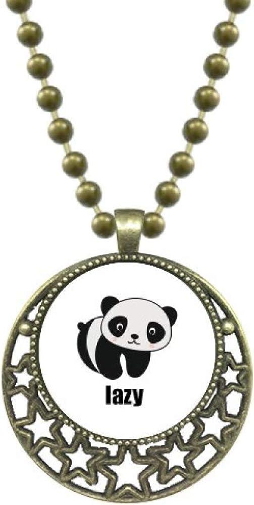 OFFbb-USA Lazy Lovely Cartoon Panda Cat Fat Pendant Star Necklace Moon Chain Jewelry