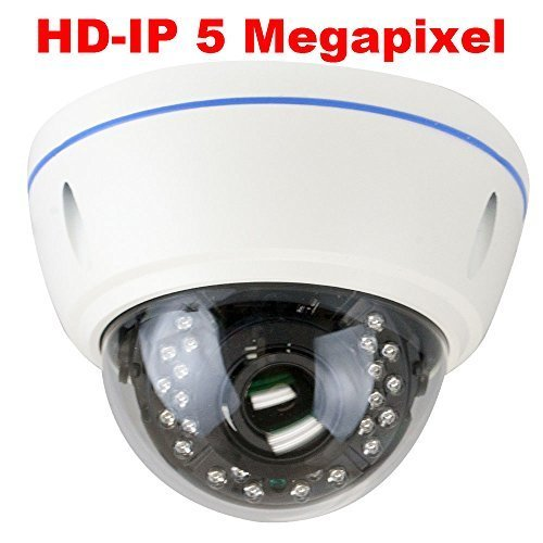 GW Security 5MP 2592 x 1920 Pixel Super HD 1920P High Resolution Network PoE Power Over Ethernet 1080P Security Dome IP Camera with 2.8-12mm Varifocal Zoom Len (White)