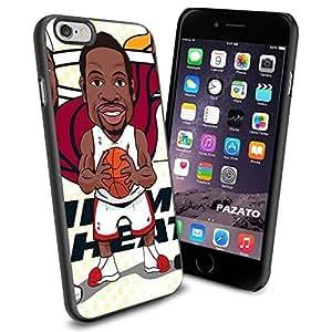 Miami Heat Big 3 - Dwyan Wade cartoon , Cool iPhone 5s Smartphone Case Cover Collector iphone TPU Rubber Case Black
